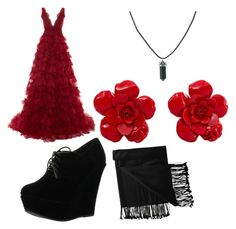 """""""Untitled #12"""" by tosha-cook ❤ liked on Polyvore featuring Marchesa, Forever Link, New Directions and Chanel"""