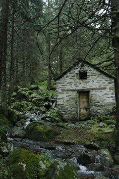Post with 107 views. Abandoned house in the Alps Witch Cottage, Cottage In The Woods, Cabins In The Woods, Mountain Cottage, Abandoned Houses, Abandoned Places, Beautiful World, Beautiful Places, Cabins And Cottages