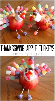 Make this apple turkey craft on Thanksgiving as a fun family activity or beforehand for a Thanksgiving decoration. Fun Thanksgiving activity for kids.