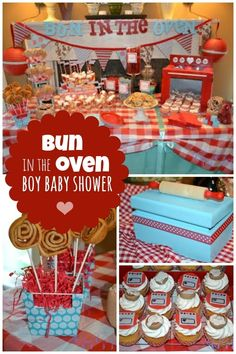 Bun in the Oven Boy Baby Shower www.spaceshipsandlaserbeams.com