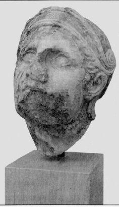 Cabeza del Templo de Atenea Alea en Tegea de Escopas de Paros. Museo Arqueológico nacional, Atenas.