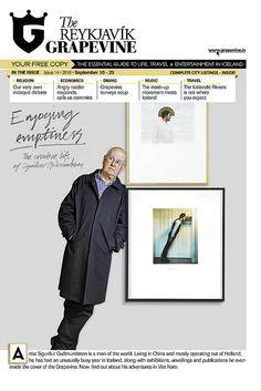 Cover art direction for The Reykjavík Grapevine issue 14, 2010 of artist Sigurður Guðmundsson.