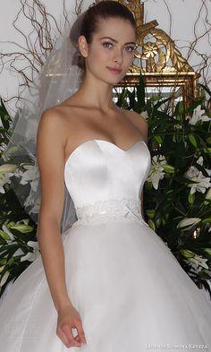 legends romona keveza fall 2016 classic elegant wedding dress strapless ball gown silk organza skirt l6136 zoom