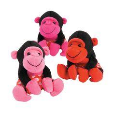 Plush+Heart+Valentine+Gorillas+-+OrientalTrading.com