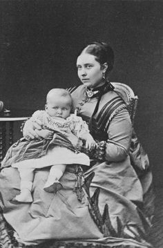 After William & Daniel Downey - Victoria, Crown Princess of Prussia, with her son, Prince Waldemar, 1868 [in Portraits of Royal Children Vol.13 1868-69]