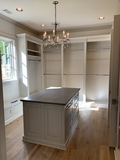 Gorgeous master closet with built ins, a center island, a window seat, and a chandelier.   Diy Master Closet, Master Closet Design, Walk In Closet Design, Build A Closet, Closet Designs, Closet Bedroom, Diy Walk In Closet, Custom Closet Design, Custom Closets