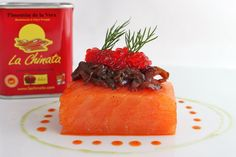 Diced Salmon Marinated in Sweet Smoked Paprika Powder La Chinata