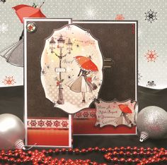 Contemporary Christmas by Hunkydory Crafts - card made using the 'Festive Finesse' topper set. Part of our 2014 Christmas Craftinator Collection