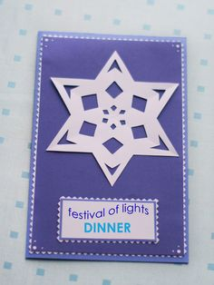 Easy Jewish Holiday Festival of Lights Invitations