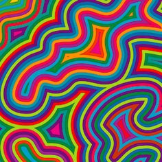 Illustration of Offset bright, swirly, psychedelic pattern. vector art, clipart and stock vectors. Psychedelic Drawings, Psychedelic Colors, Psychedelic Pattern, Psychedelic Drugs, Retro Background, Textured Background, Trippy Background, Trippy Patterns, Psychadelic Art