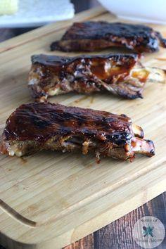 Fall off the Bone Ribs Recipe! A perfect summer recipe!  #FireUptheGrill #ad
