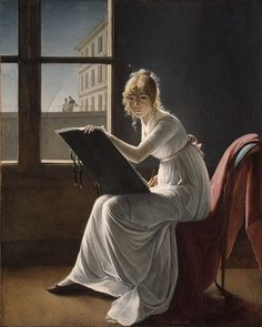 Young Woman Drawing / Marie-Denise Villers / 1801 / Oil on canvas / at the Met