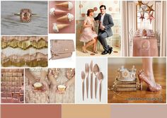 color palettes, gold weddings, rosegold, pastel colours, color schemes, wedding ideas, inspiration boards, dusty rose, rose gold