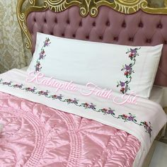 Moda Emo, Bed Pillows, Pillow Cases, Shabby, Embroidery, Stitch, Photo And Video, Instagram, Decor