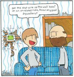 #HVAC installer hack! Cartoon style.