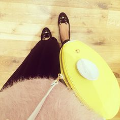 Charlotte Olympia kitty flats / Patricia Chang mouse bag