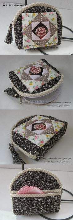 ideas quilting bag tutorial patchwork for 2019 Japanese Patchwork, Patchwork Bags, Quilted Bag, Patchwork Ideas, Patchwork Quilting, Fabric Wallet, Fabric Bags, Diy Purse, Handmade Bags