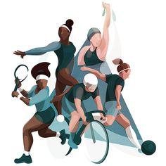 30 Ideas Sport Illustration Design People For 2019 Flat Design Illustration, Illustration Mode, Character Illustration, Sports Drawings, Art Drawings, Sports Art, Fitness Inspiration, Inspiration Design, Fashion Art