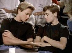 River Phoenix and Wil Wheaton in stand by me music video River Phoenix, River I, Millie Bobby Brown, Jaden Smith, Shay Mitchell, Beautiful Boys, Pretty Boys, Gordie Lachance, Lucas Jade Zumann