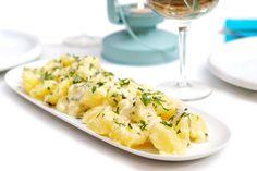 Receta de patatas alioli con Thermomix. Un receta básica para comer sola o acompañar con pescadito frito. Receta 100% española.
