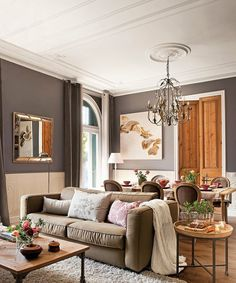 Orange brown living room color scheme ideas - SHW Home Decor Living room color scheme ideas. The idea of a living room color scheme is needed to provide a new atmosphere for your family. The first step you have to do Good Living Room Colors, Living Room Orange, Living Room Color Schemes, Home Living Room, Living Room Furniture, Living Room Designs, Brown Living Room Paint, Home Color Schemes, Interior Design Color Schemes