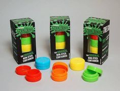 5 Pack NoGoo Glow in the Dark Single Food Grade No Stick Silicone Concentrate