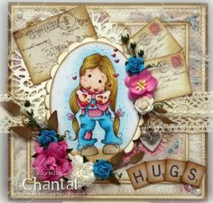 Cards made by Chantal: Hugs & blowing hearts