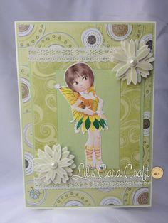 Handmade Card  Sunshine Fairy by LilsCardCraft on Etsy, $7.00