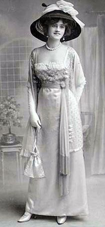 1910 dress, lace bodice & overlays