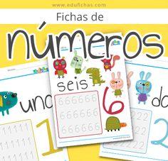 Nuevas fichas de actividades para imprimir. Fichas de números 2017. Comenzamos el curso con estas divertidas fichas para niños para aprender los números.