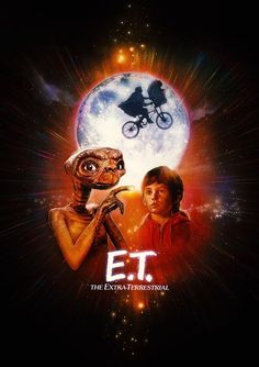 """the Extra-Terrestrial"""" by Paul Shipper Retro Poster, Movie Poster Art, 80s Posters, Vintage Posters, Et The Extra Terrestrial, Henry Thomas, Decoration Photo, Kunst Poster, Keys Art"""