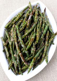 Boring side dishes, move on over. These Roasted Asian Green Beans are good enough to be the main course!