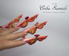 """Gefällt 1,214 Mal, 46 Kommentare - Leon Cabriales (@leon_cabriales) auf Instagram: """"Student work ! Butterfly nail #butterfly  #nails #nail3d #nailss #nailpolish #nailswag #naildesign…"""""""