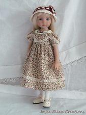 "13"" Effner Little Darling fashion regency print 4 pc set OOAK handmade by JEC"