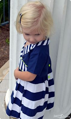 In love with this little dress!  Frances Suzanne | Sewing with Sisters: Oliver + S: Library Dress {fall pattern preview}