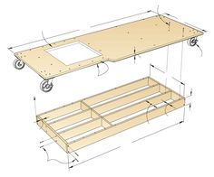 Torsion-Box Mobile Base Woodworking Plan