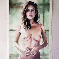Segunda-feira, #aquarela #watercolor. Últimas vagas para meu workshop em SP, dias 1 e 2 de outubro. Inscrições: contato@pleinairstudio.com.br.