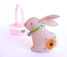 PDF pattern  Easter bunny in a basket  sewing pattern DIY