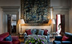 5 Star deluxe Hotel in Rome Elegant Villa, Home of J. Paul Getty with gardens with Mediterranean fragrances, large terrace overlooking the sea, one star Michelin restaurant, Health and Beauty SPA.