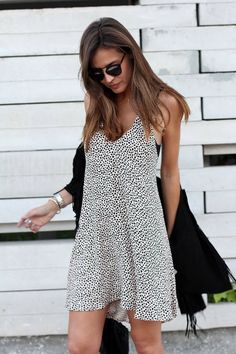 #dress #pattern #blackandwhite #short #cute #fashion #streetstyle #flowy #sexy #casual