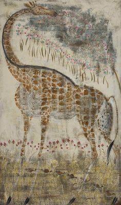 Untitled (Giraffe) by Georgian artist Merab Abramishvili (1957-2006). via Shelley Davies