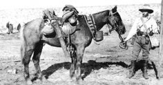 Pictured Left is Cpl Austin Edwards and his Waler - Taffy. Lighthorsemen... The Light Horse Brigade.