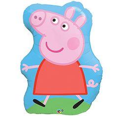 "Peppa Pig 35"" Huge Super Shaped Mylar Foil Balloon (1) (MULTI, 1)"