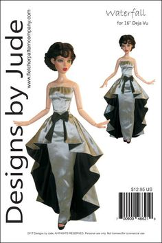 """Enchanted Doll Clothes Sewing Pattern for 16/"""" Deja Vu Dolls Tonner"""