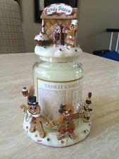 Yankee Candle Candy Shoppe Gingerbread Man Plate Holder Topper