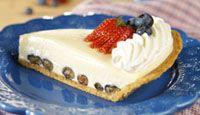 Red, White & Blueberry Cream Pie