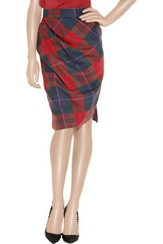 Vivienne Westwood Anglomania | Philosophy tartan wool pencil skirt | NET-A-PORTER.COM