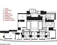 Second Floor Plan : Art Gallery of Ontario (AGO) | Frank Gehry