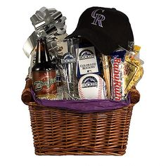 DIY Gift Basket Ideas  - Baseball Lovers Treats - Click pic for 25 DIY Christmas Gift Ideas