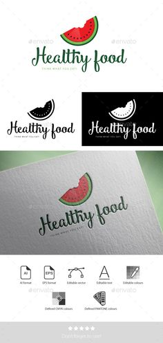 Healthy Foodtype - Logo Design Template Vector #logotype Download it here: http://graphicriver.net/item/healthy-food-logotype-template/11986865?s_rank=649?ref=nesto